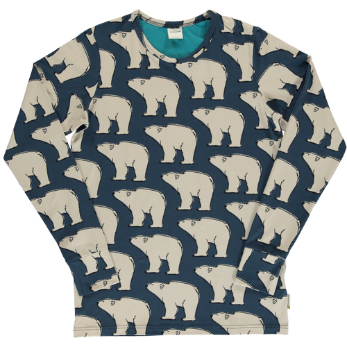 Maxomorra winter polar bear long sleeve top