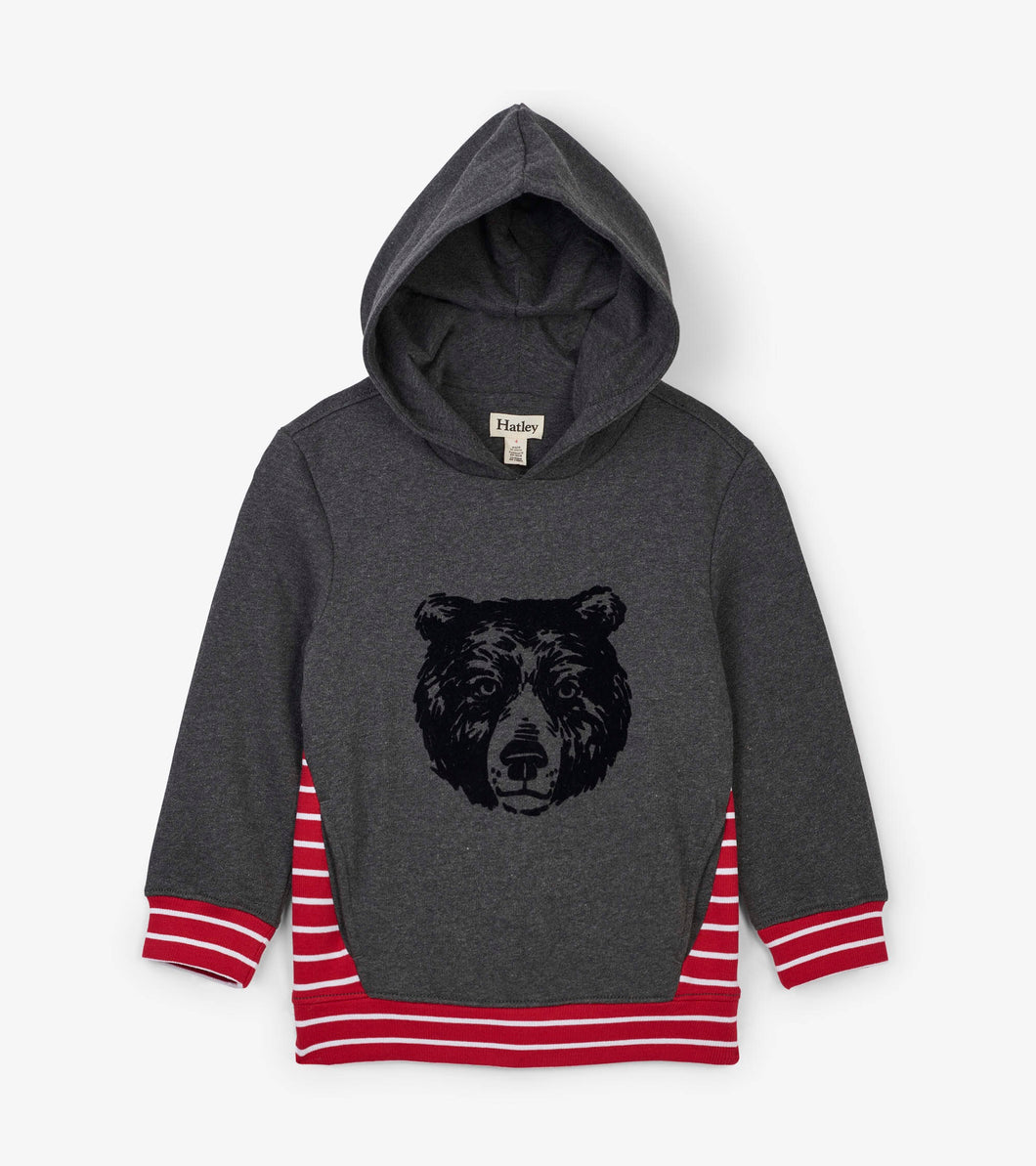 Hatley grizzly bear hoodie hooded pullover