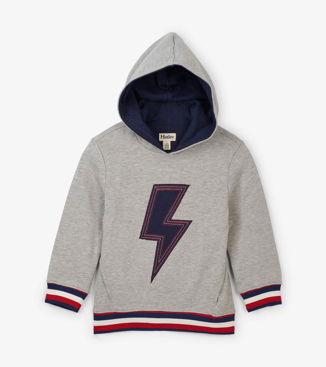 Hatley lightning flash hooded pullover hoodie jumper