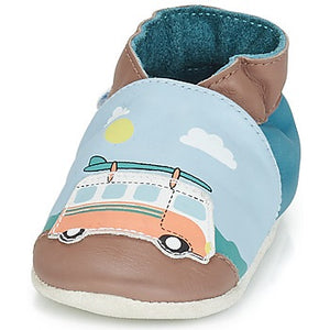 Robeez surfing summer campervan soft sole shoes leather slippers