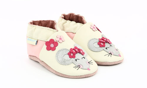 Robeez happy mouse soft sole shoes leather slippers