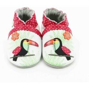 Robeez tropical toucan soft sole shoes leather slippers