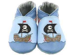 Robeez pirates boat soft sole shoes leather slippers