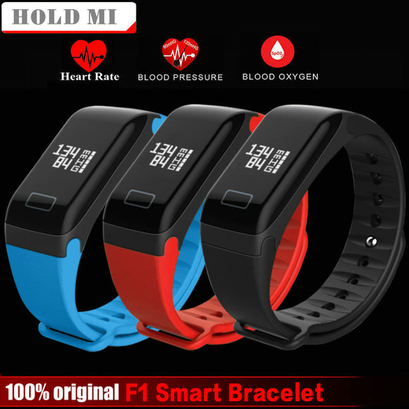 Hold Mi F1 Smart Band Blood Oxygen Blood Pressure Watches Fitness Sport Smart Bracelet Heart Rate Monitor pk fitbits mi band 2