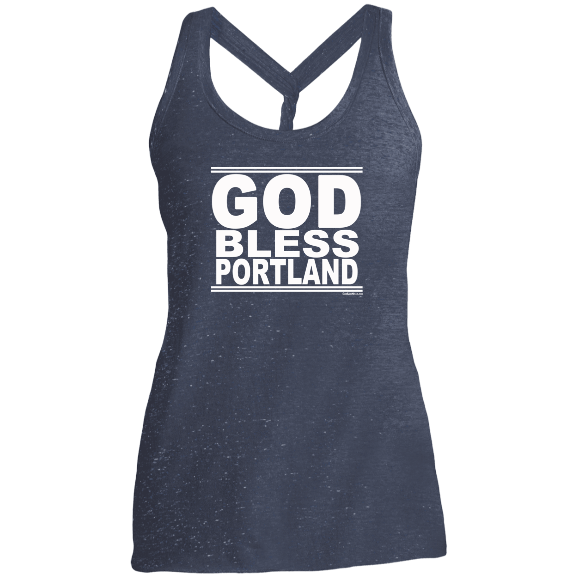 #GodBlessPortland - Women's Twist Back Tank Top
