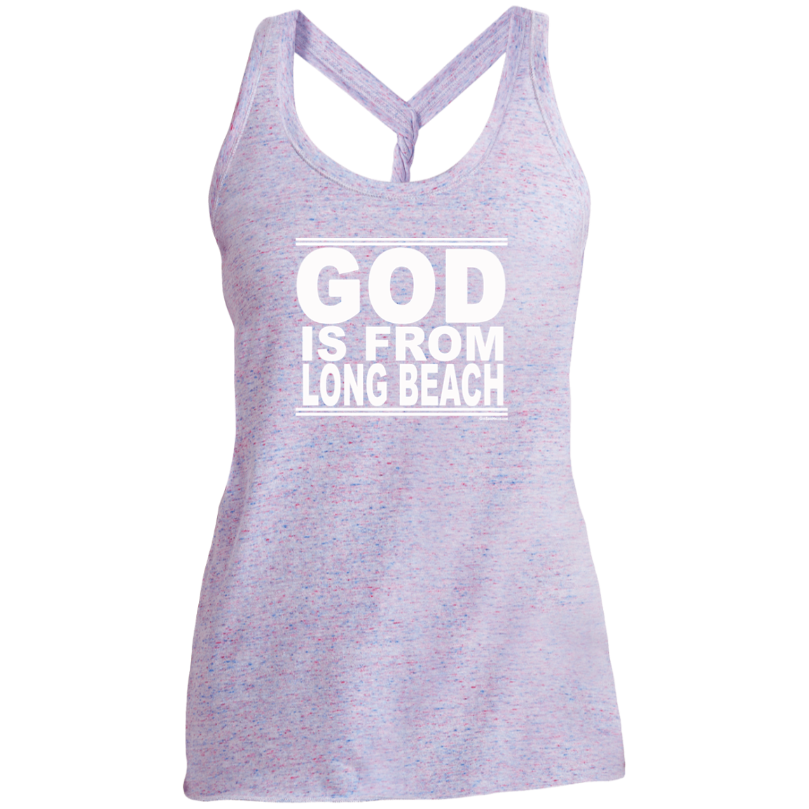 #GodIsFromLongBeach - Women's Twist Back Tank Top