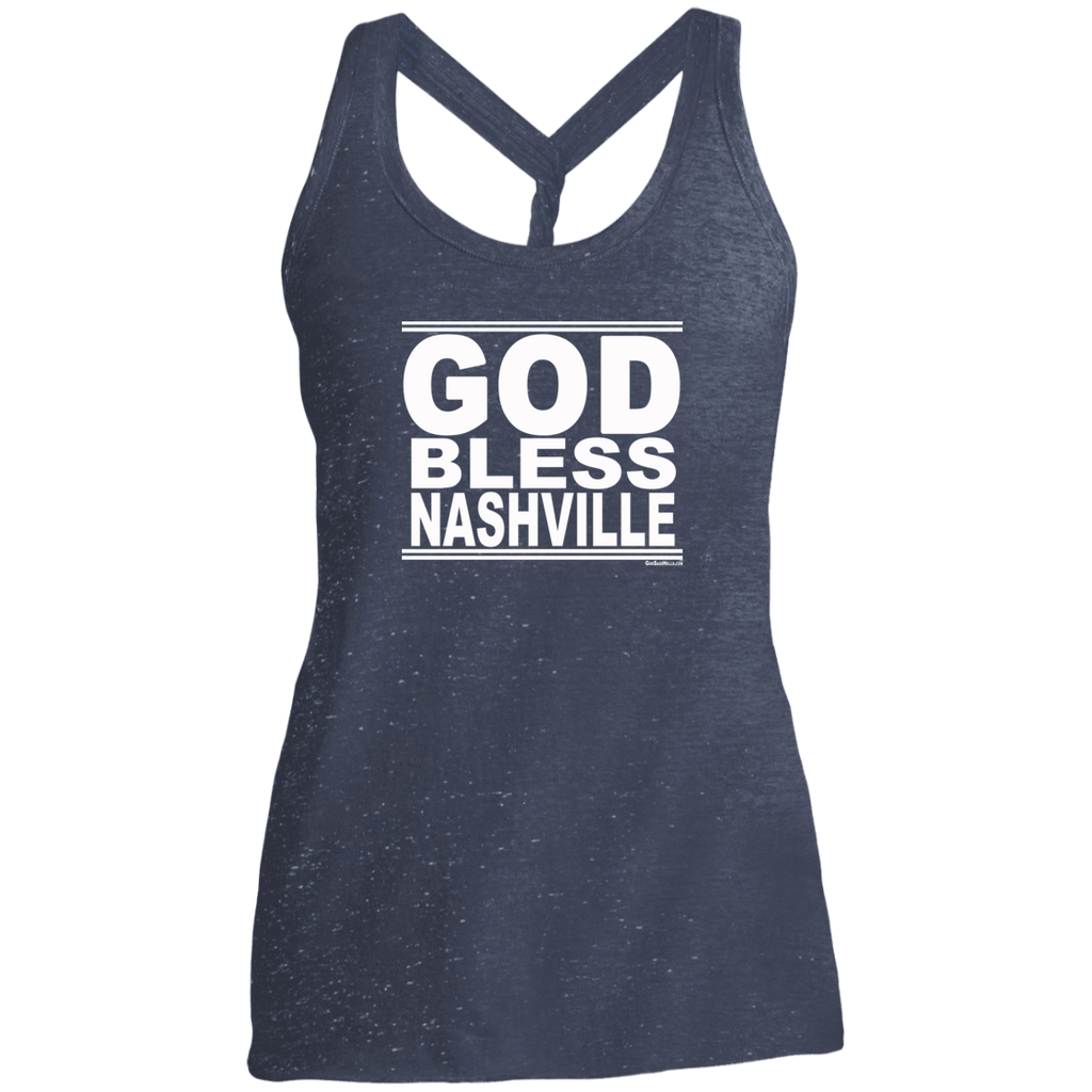 #GodBlessNashville - Women's Twist Back Tank Top