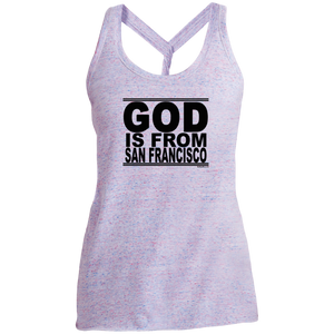 #GodIsFromSanFrancisco - Women's Twist Back Tank Top