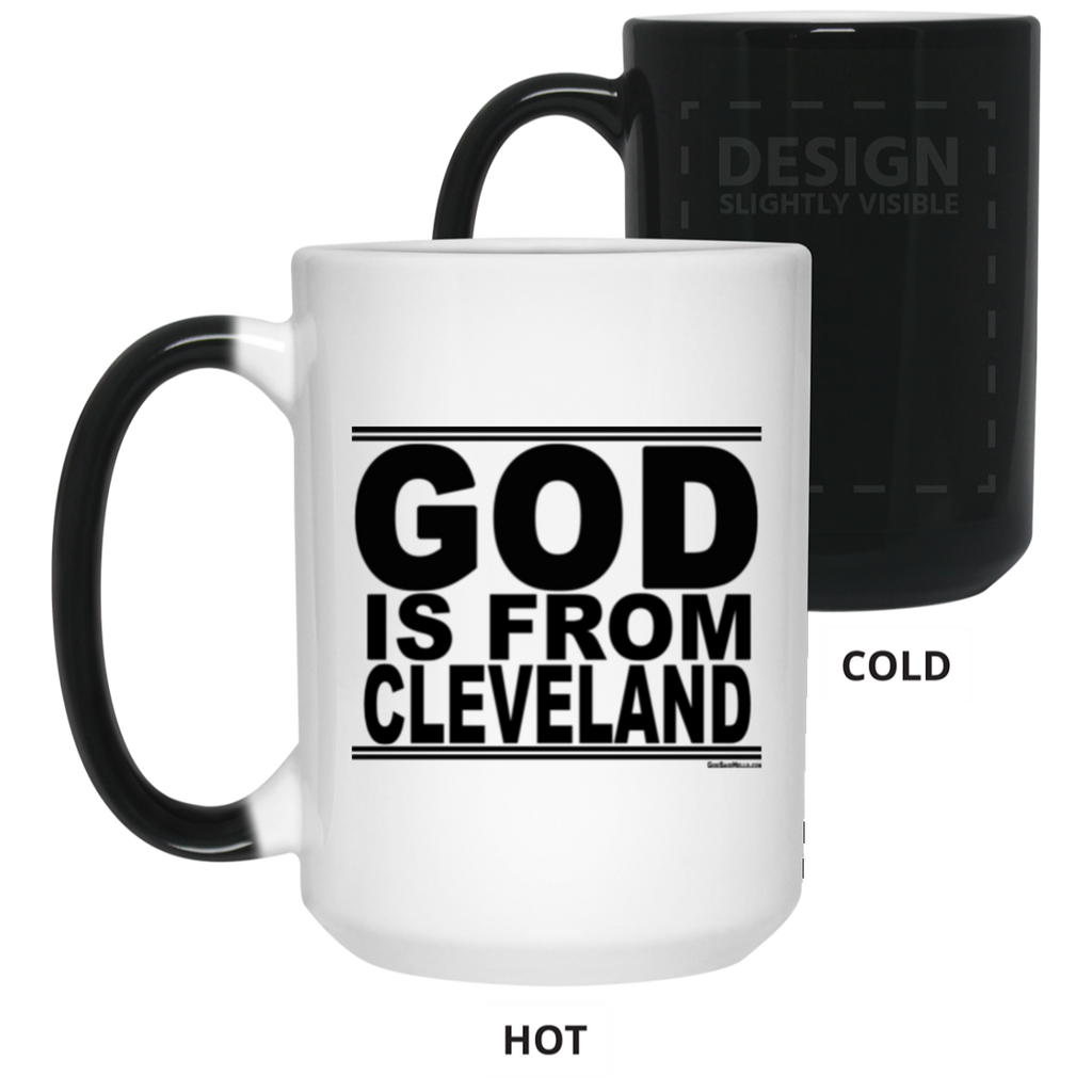 #GodIsFromCleveland - Color Changing Mug
