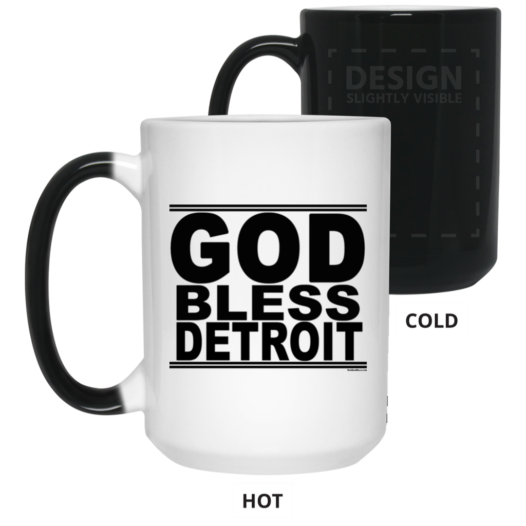 #GodBlessDetroit - Color Changing Mug