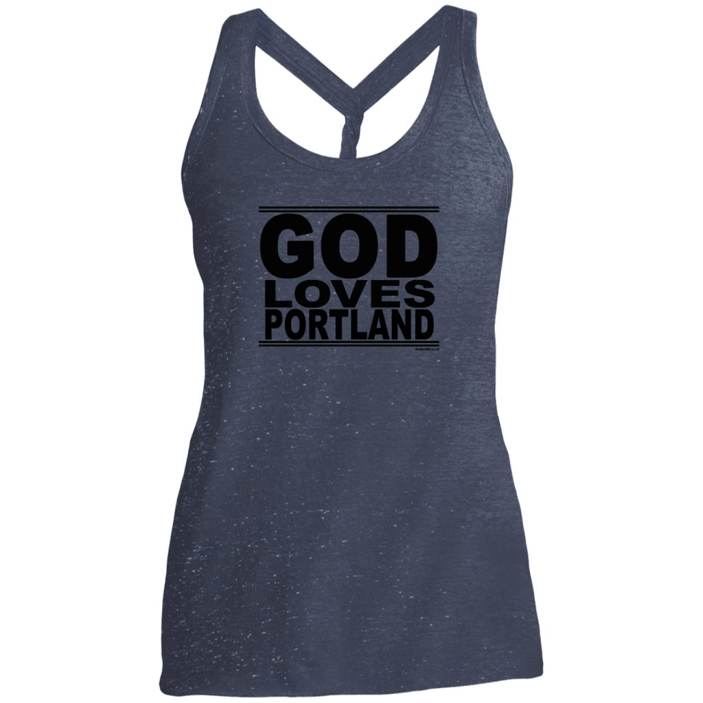 #GodLovesPortland - Women's Twist Back Tank Top