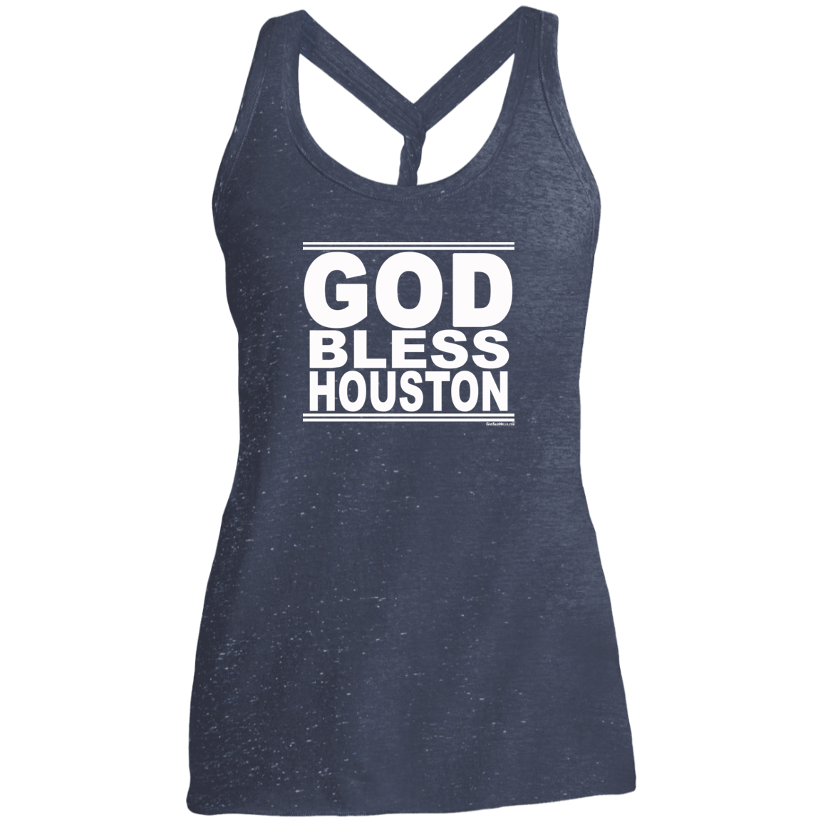 #GodBlessHouston - Women's Twist Back Tank Top