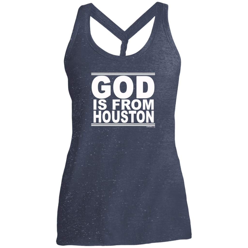 #GodIsFromHouston - Women's Twist Back Tank Top
