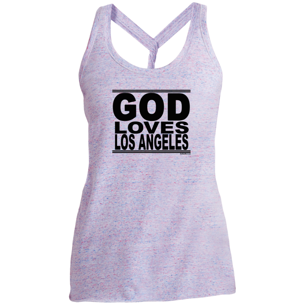 #GodLovesLosAngeles - Women's Twist Back Tank Top