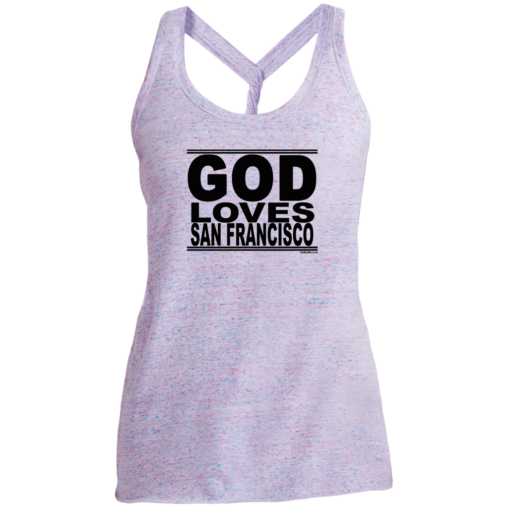 #GodLovesSanFrancisco - Women's Twist Back Tank Top