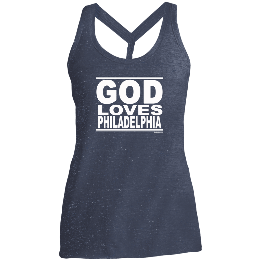 #GodLovesPhiladelphia - Women's Twist Back Tank Top