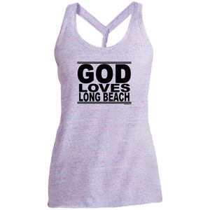 #GodLovesLongBeach - Women's Twist Back Tank Top