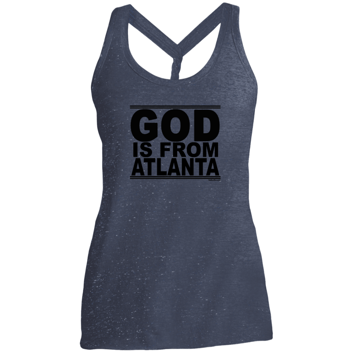 #GodIsFromAtlanta - Women's Twist Back Tank Top