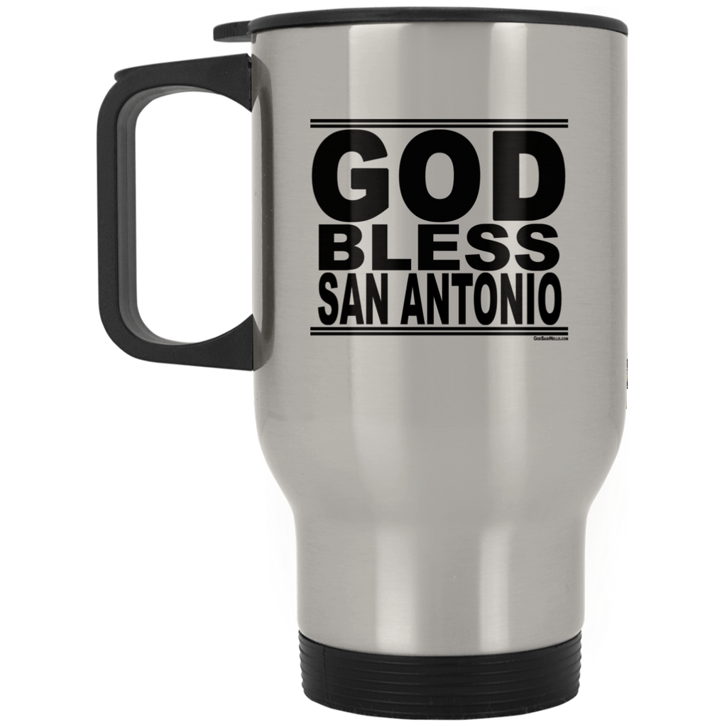 #GodBlessSanAntonio - Stainless Steel Travel Mug