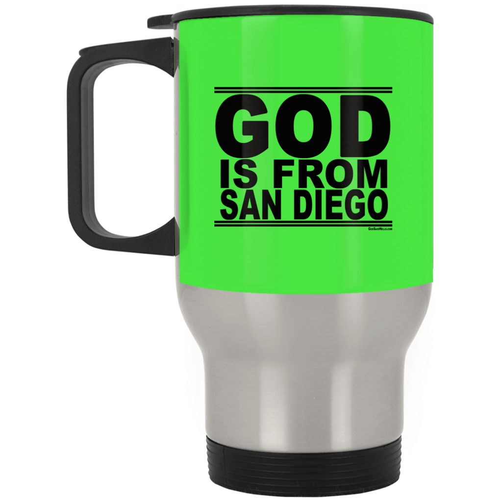#GodIsFromSanDiego - Stainless Steel Travel Mug