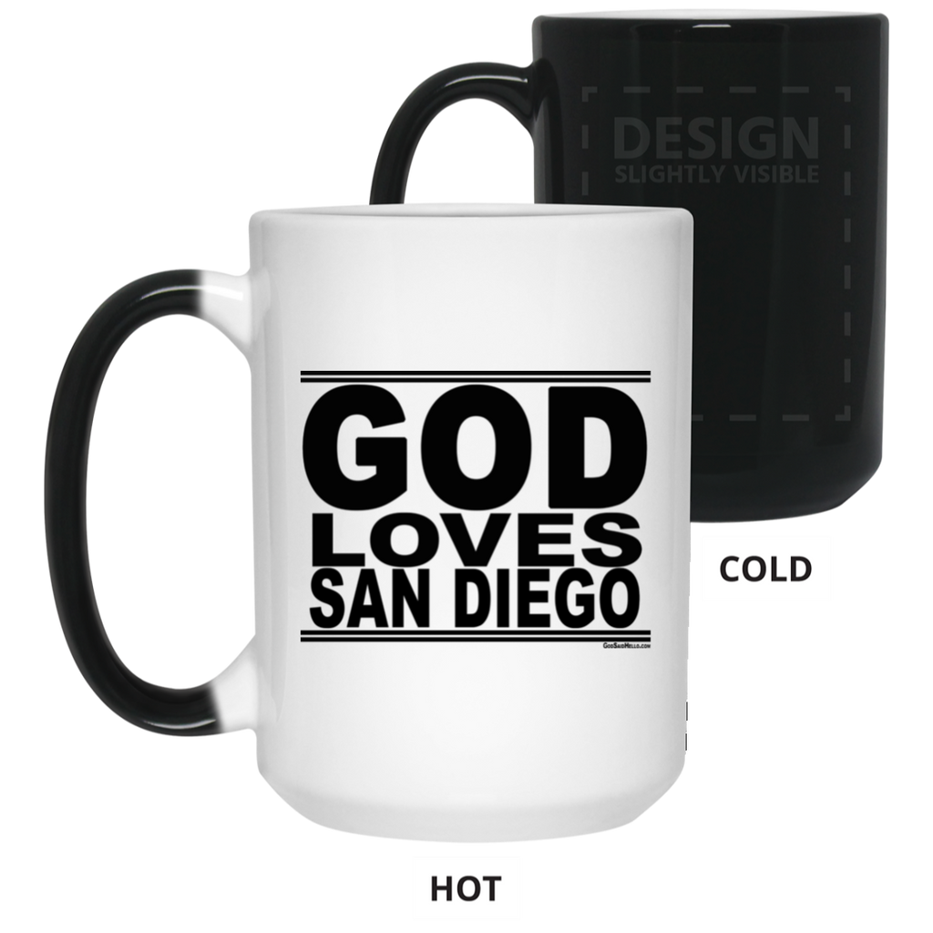 #GodLovesSanDiego - Color Changing Mug
