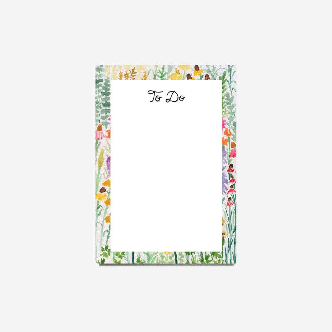 Flower Meadow To Do Notepad