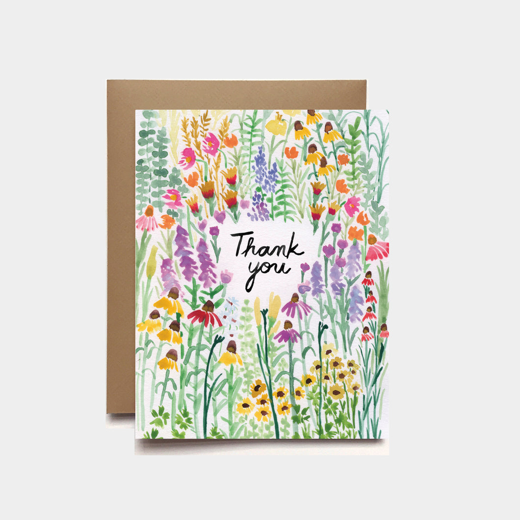 Flower Field Thank You Card