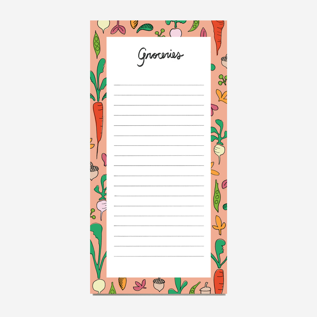 Vegetable Grocery Notepad
