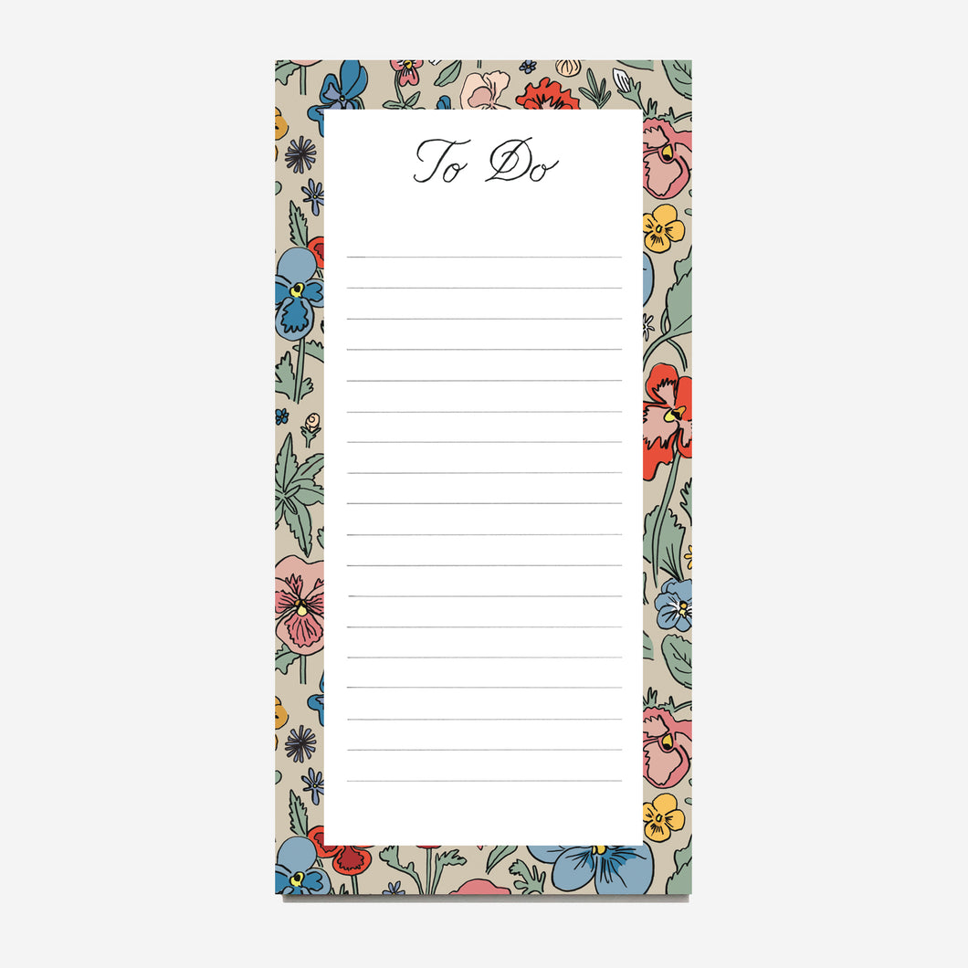 Pansy Riot To Do Notepad