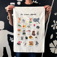 Animal Alphabet Tea Towel