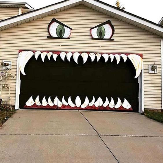 whimsical pumpkins to monster mouth garage doors
