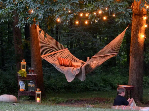 backyard hammock lighting
