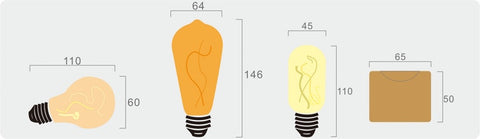 bulbs sizes
