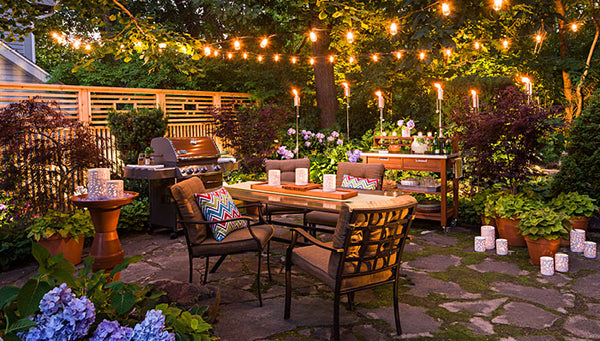 outdoor dining table lamp