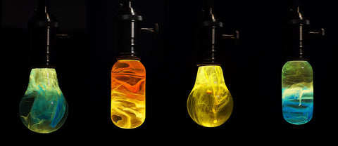 colorful led bulbs