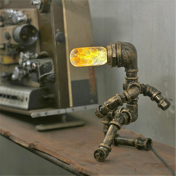 Iron Man Industrial Style Table Lamp With Bulb