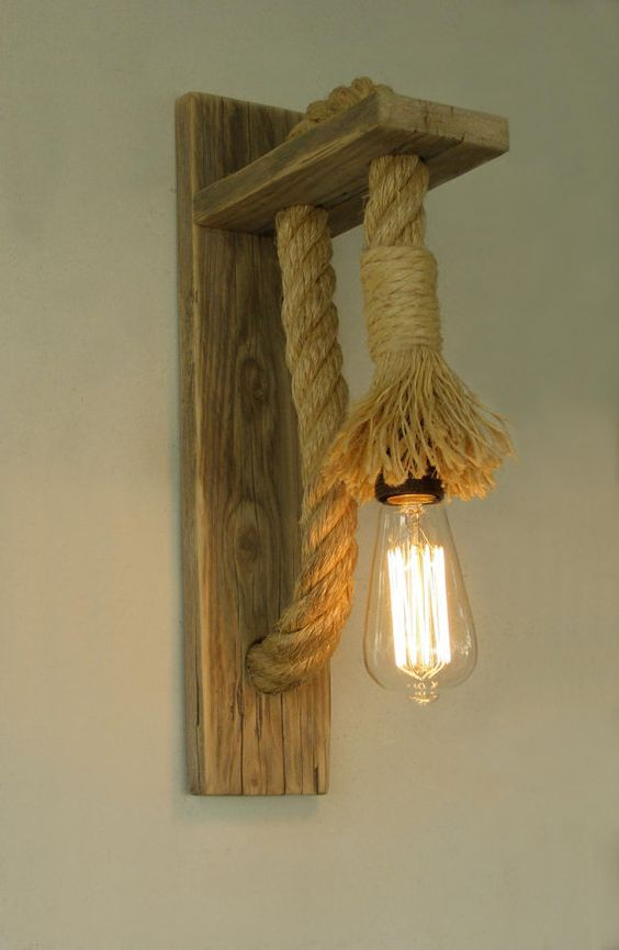 Rope wall lamp lighting