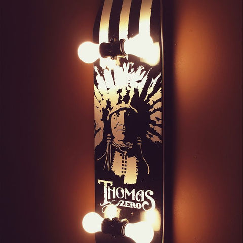 Skateboard DIY Lamp