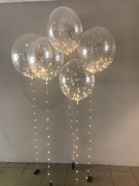 string lights in balloon