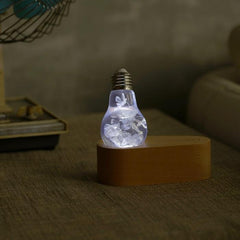 blue hydrangea lamp with LED Base