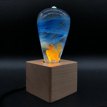 Fire Effect Resin Table Lamp