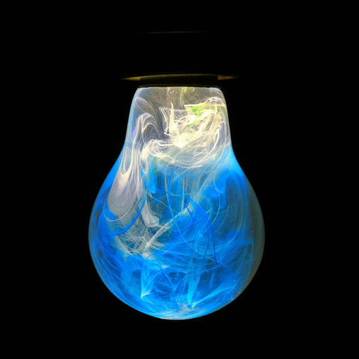 blue and white smoke style EP Light bulb