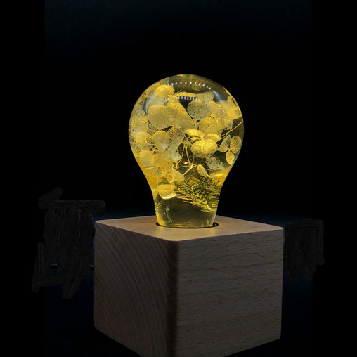Table Lamp - Yellow Hydrangea