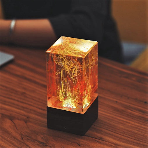 resin table decor art lamps