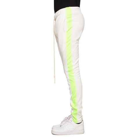EPTM Techno Track Pants | White/Neon Green
