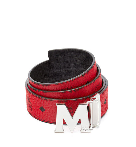 MCM Claus Reversible Belt | Red/Silver