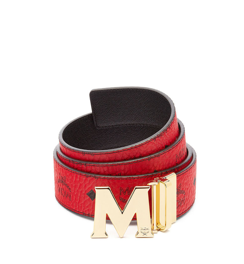 MCM Claus Reversible Belt | Red - Capsule NYC