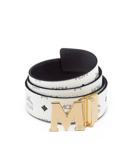 MCM Claus Reversible Belt | White