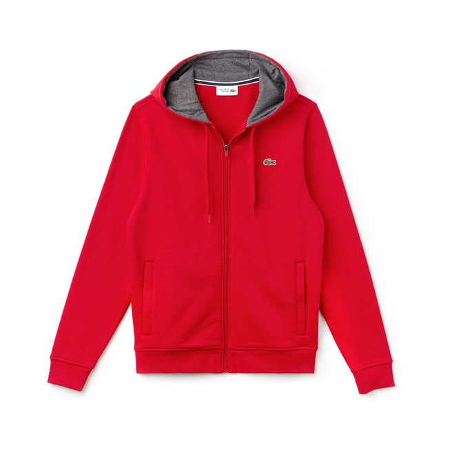 LACOSTE Basic Hoodie | Red