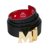 MCM Reversible Belt in White Logo Vesitos | Red